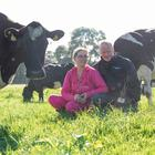 Dairy farmers Peter and Paula Hynes on their land in Aherla, Co Cork. Photo: Clare Keogh