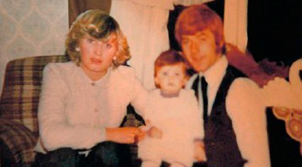 Undated family handout photo of Lisa Lawlor with her parents Maureen and Francis, who were killed in the Stardust tragedy in 1981. Photo: Family handout/PA Wire