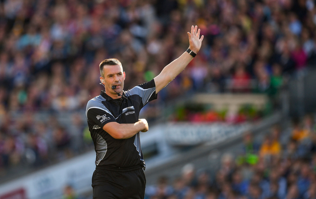 28 July 2018; Referee James Owens during the GAA Hurling All-Ireland Senior Championship semi-final match between Galway and Clare at Croke Park in Dublin. Photo by Ray McManus/Sportsfile