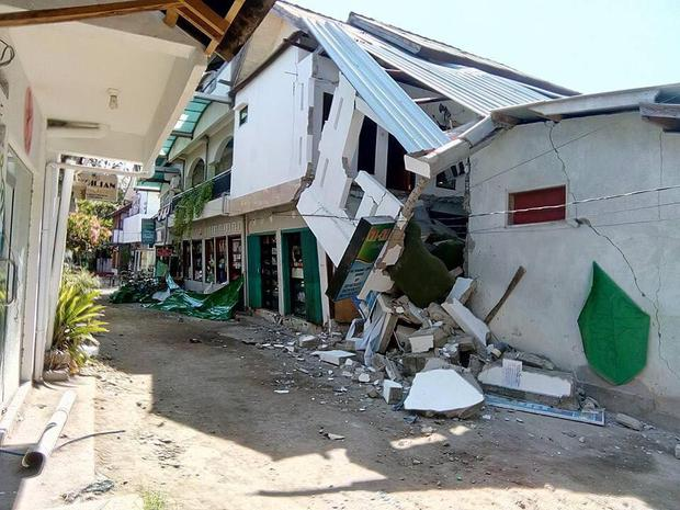 Fiona's home and business were severely damaged in the earthquake