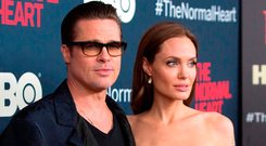 Actors Brad Pitt and Angelina Jolie attend a in New York before they split. Photo: Reuters