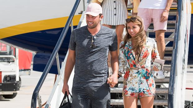Love Island contestants arrive at Stansted Airport (PA)