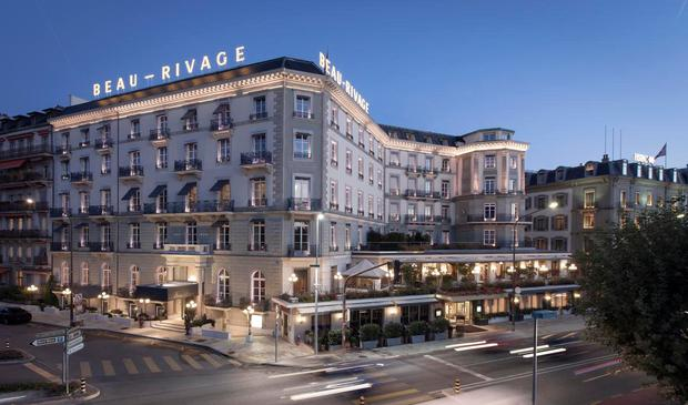 The Beau-Rivage Hotel in Geneva, where suites cost up to €3,095 a night