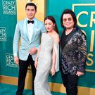 Henry Golding, Constance Wu and Kevin Kwan attend the premiere of Warner Bros. Pictures'