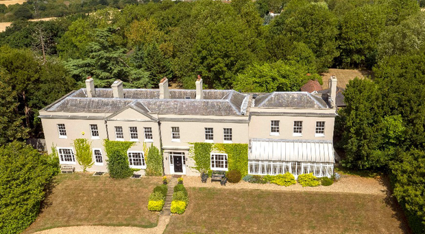 A aerial view of Dancers Hill House near Barnet, north London, which is worth around £5.25 million but is being raffled off (Steve Parsons/PA)