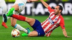 Diego Godin in action for Atletico Madrid.