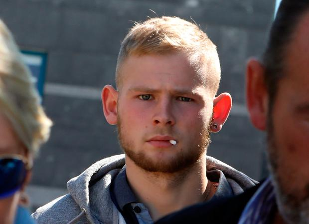 Aaron Connolly pictured leaving Cloverhill District Court on Thursday. Pic: Collins