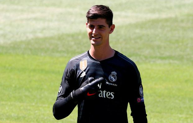 Real Madrid's Thibaut Courtois