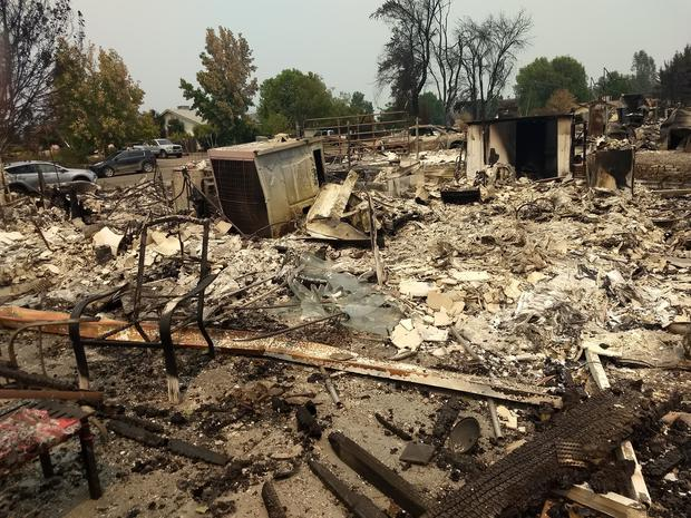 Zita's home was completely destroyed in the fire