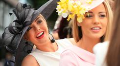 Adrianna McNamee and Victoria Corr enjoy their day at the show. Picture: Gerry Mooney