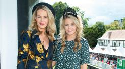 Aoibhin Garrihy & Ailbhe Garrihy at Ladies Day at the Dublin Horse Show. Picture: Anthony Woods