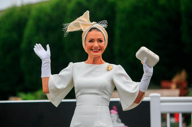 Best Dressed Lady winner Deirdre Kane at the Dublin Horse Show. Picture: Gareth Chaney/Collins