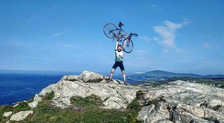 David Power, who cycled from Mizen Head to Malin Head this summer in aid of the Irish Wheelchair Rugby Association.
