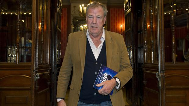 Jeremy Clarkson has compared a seaside shot of himself to David Hasselhoff (PA)