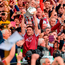 Galway captain David Burke lifts the Liam MacCarthy Cup after the GAA Hurling All-Ireland Senior Championship Final match last September. Photo: Piaras Ó Mídheach/Sportsfile