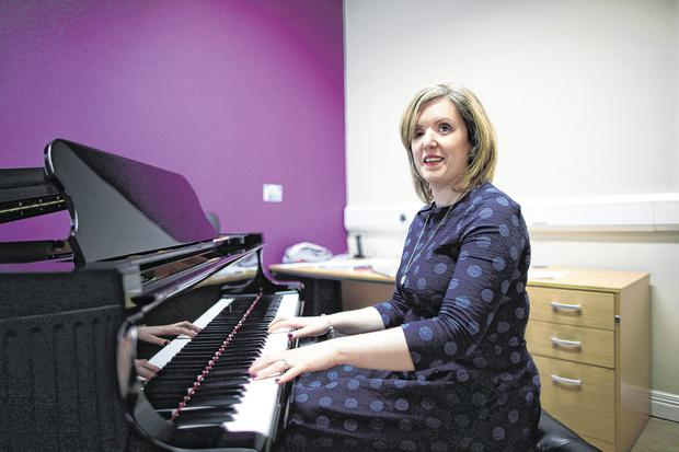 Claire Bowes, who was injured in the Omagh bomb and now runs Omagh Music Academy. Photo: Peter Morrison