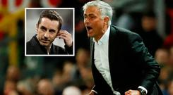 Gary Neville furious that news of Jose Mourinho's imminent sacking may have been leaked