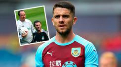 Robbie Brady and (inset) it's 10 years since Robbie kKeane signed for Liverpool
