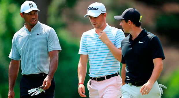 US PGA Championship Day Two as it happened: Woods and Lowry in contention for major glory at Bellerive