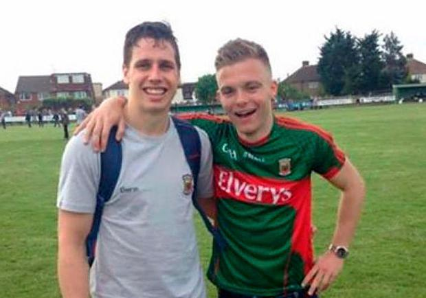 The late Joseph Deacy pictured with Mayo footballer Lee Keegan