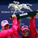 The winning Girls Shergar Cup team of (l to r) Josephine Gordon, Hollie Doyle and Hayley Turner