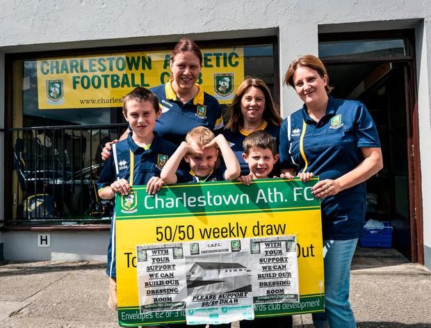 Members of the Charlestown Athletic Football Club. Photo: Keith Heneghan
