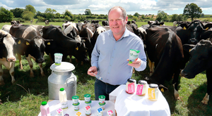 Nicholas Dunne, CEO of Killowen Farm, with some of his herd of cows on the farm near Courtnacuddy, Enniscorthy. Picture: Frank McGrath