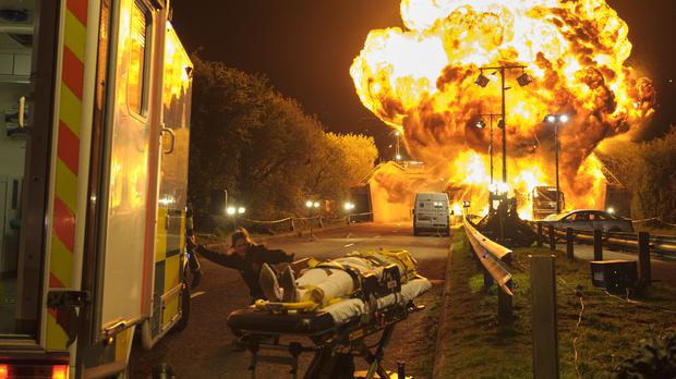 The explosion was caused by a fuel tanker involved in the car accident (BBC – Photographer: Alistair Heap)