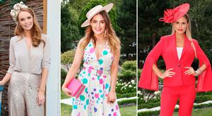 (L to R) Aoife Walsh, Courtney Smith, Rosalind Lipsett and Lynn Kelly after the Dublin Horse Show