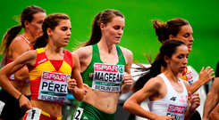 Ciara Mageean of Ireland, centre, competing in the Women's 1500m Final during Day 6 of the 2018 European Athletics Championships at The Olympic Stadium in Berlin, Germany.