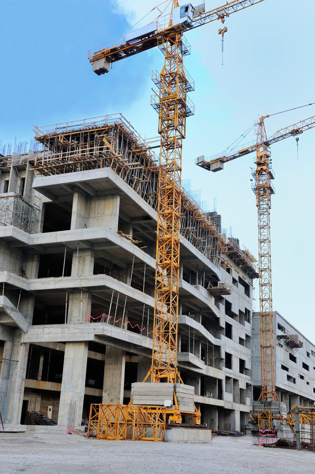 Ireland's construction sector is now growing so fast that shortages of some building materials and services are being reported. Stock photo