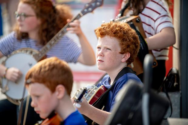 Patrick Lynch from Mullinalaghta, Co Longford, plays the banjo. Photo: Ciara Wilkinson