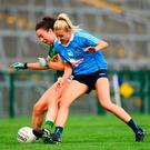 Aisling O'Connell of Kerry in action against Nicole Owens of Dublin. Photo by Eóin Noonan/Sportsfile