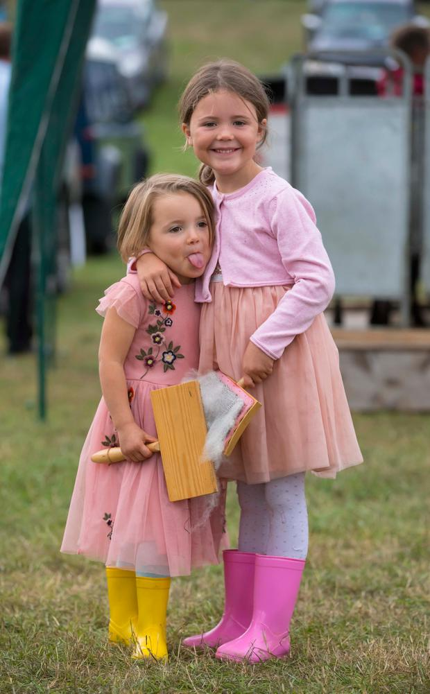 Aoife and Saoirse Whelahan, from Portarlington, Co Laois. Photo: Patrick Browne