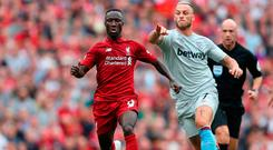Naby Keita made an extremely impressive debut. Photo credit: David Davies/PA Wire.