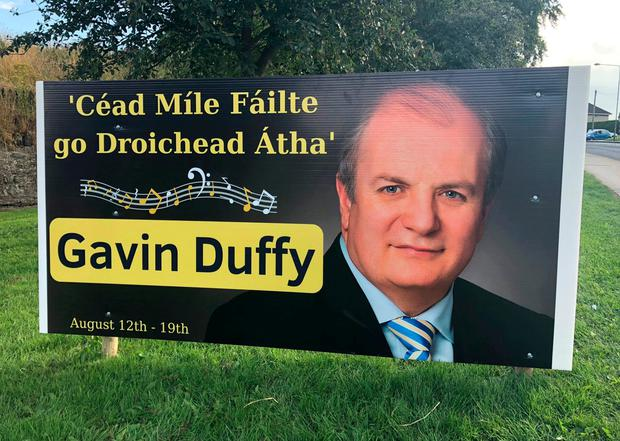 One of the presidential hopeful's posters in Drogheda