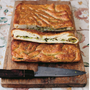 Stuffed focaccia: Broad beans, lemon, pecorino & fresh herbs. Photo: David Loftus