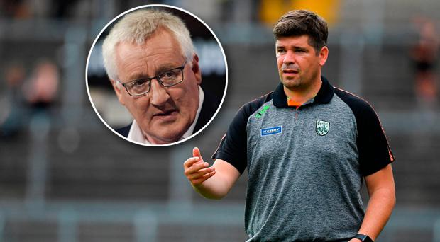 Pat Spillane (inset) has responded to criticism from Eamonn Fitzmaurice