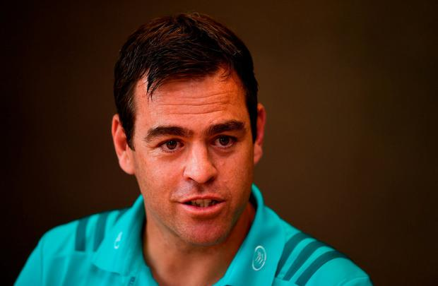 Johann van Graan in thoughtful mood at yesterday's press conference. Photo: Diarmuid Greene/Sportsfile
