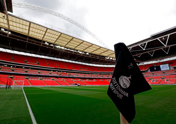 Tottenham have taken up an option of continuing to play their 'home' games at Wembley for the foreseeable future. Photo: PA