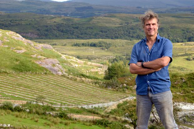 Dr Steve Collins on his farm near Bantry. Photo: Denis Boyle
