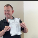 Alan Hand (41) with his leaving cert results.