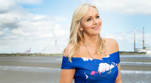 Miriam O'Callaghan on Sandymount Strand in Dublin. Picture: David Conachy