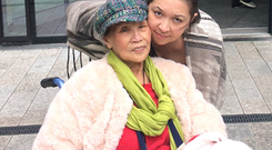 Caroline Melwani with her late mother Janet