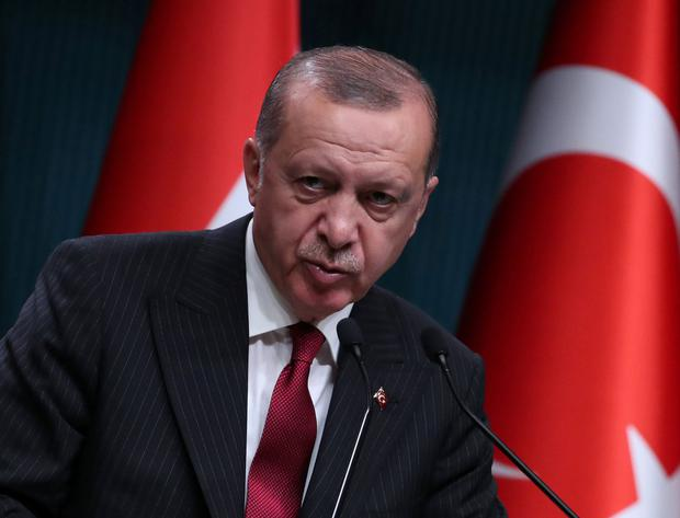President Tayyip Erdogan said Turkey would boycott electronic products from the United States. Photo: Umit Bektas