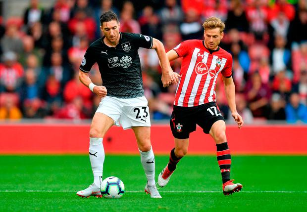 PREMIER CLASH: Stephen Ward in action for Burnley during last Sunday's Premier League opener against Southampton. Photo: Dan Mullan/Getty Images