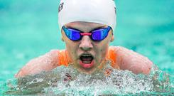 Nicole Turner during the heats of the women's 200m individual medley SM6 at the Para Swimming European Championships yesterday. Photo: Sportsfile