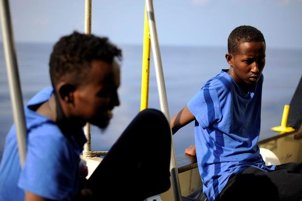 Rescued migrants on the Aquarius wait to allowed into Malta: Photo: Reuters