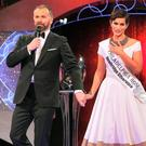 Philadelphia Rose Maria Walsh being crowned the Rose of Tralee in 2014 by Dáithi Ó Sé. Photo: Steve Humphreys