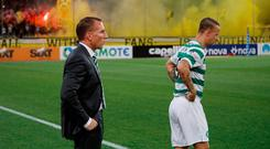 Goals early in both halves from AEK Athens left Celtic with a mountain to climb and, although they pulled one back to set up a grandstand finish, they now go to the Europa League. Photo: REUTERS/Alkis Konstantinidis